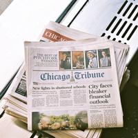 Geworfene Zeitungen