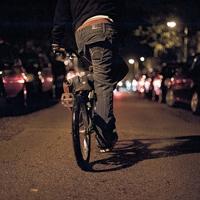 Fahrrad mit kaputtem Licht