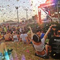 Scheisserei auf dem Musikfestival