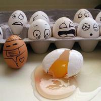Eier in der Kochwäsche