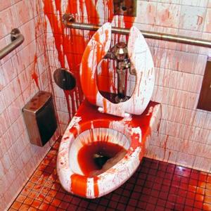 Unsere blutige WG-Toilette