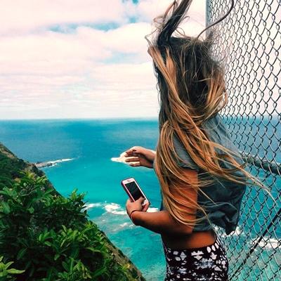 Selfie auf der Klippe